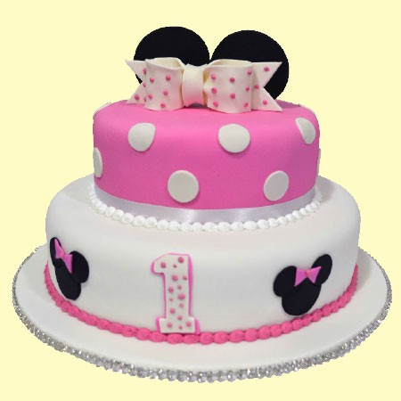 Minnie's Tower - Minnie Mouse inspired Custom Cake