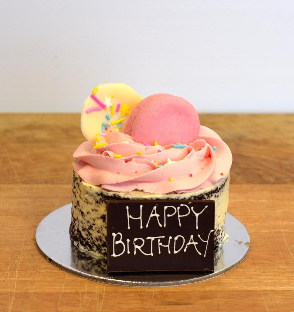 Terrific Pink Mini Mud Birthday Cake Funny Birthday Cards Online Inifofree Goldxyz
