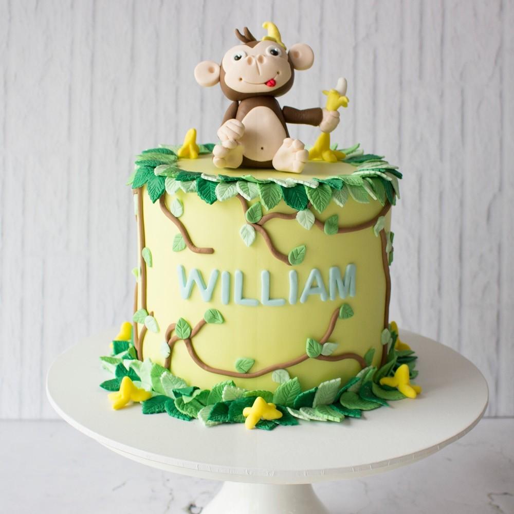 Miraculous Monkey Banana Custom Cake Personalised Birthday Cards Paralily Jamesorg