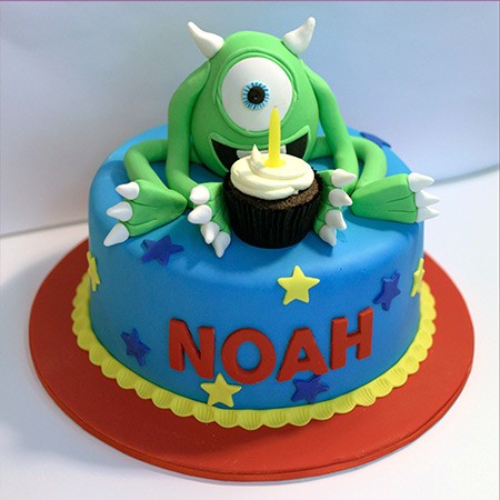 Monster Custom Birthday Cake
