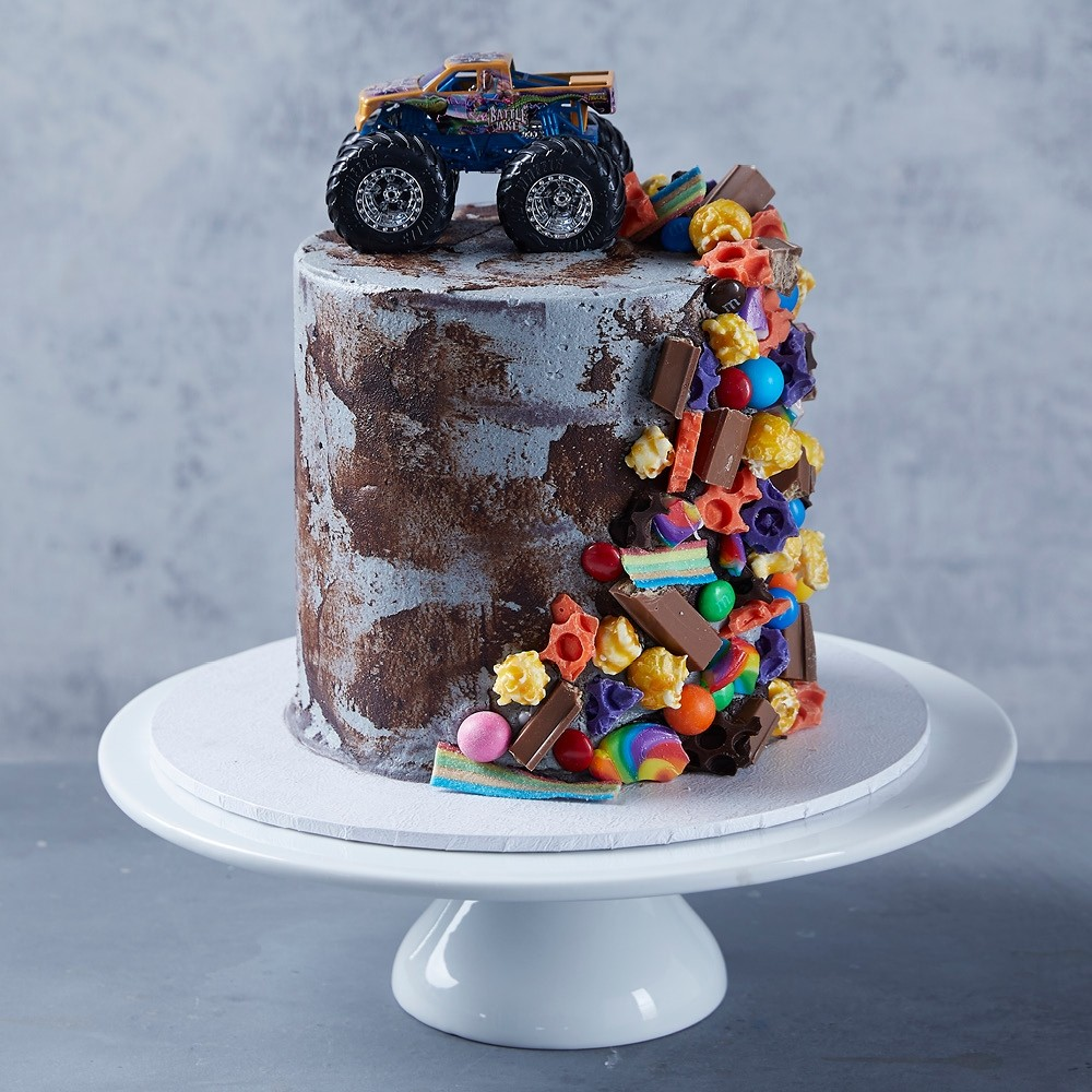 Groovy Monster Truck Birthday Cake Funny Birthday Cards Online Fluifree Goldxyz