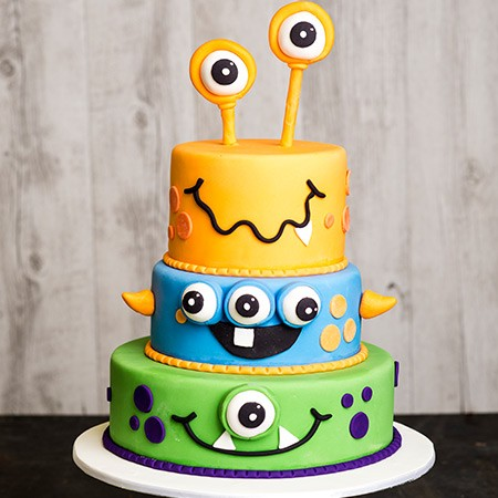 monsters halloween cake
