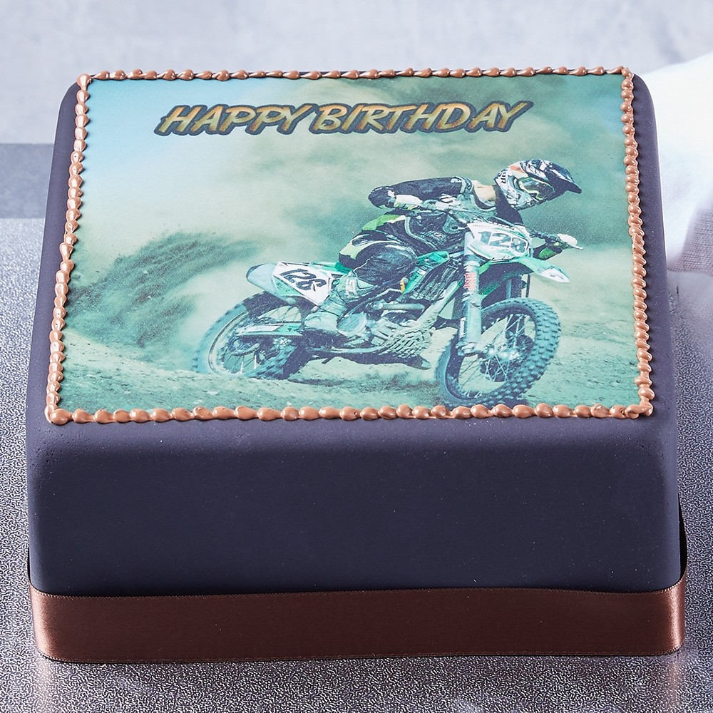 Motorbike Photo Cake