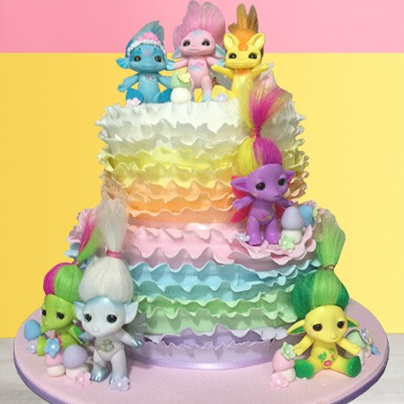 Trolls Custom Birthday Cake