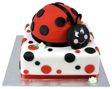 A Ladybird Dot Cake