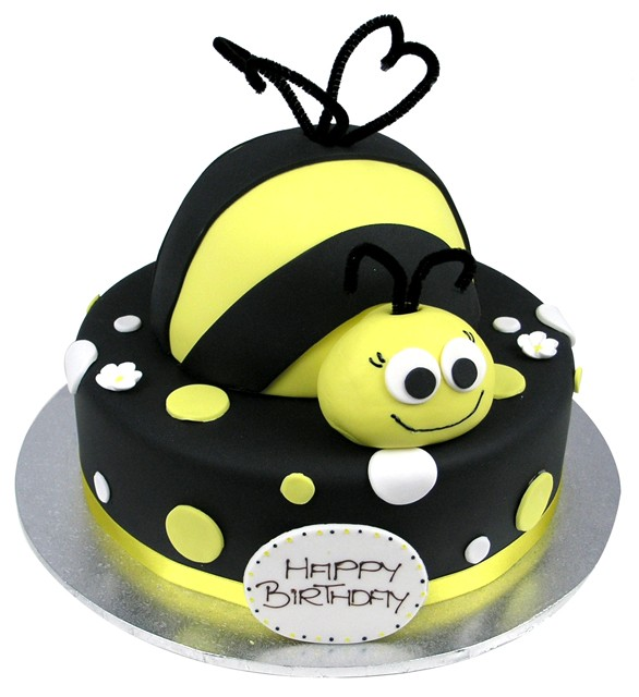 Groovy A Bumblebee Dot Cake Funny Birthday Cards Online Inifofree Goldxyz