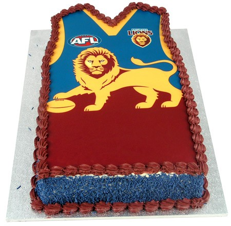 AFL Football Team Cake (Shaped)