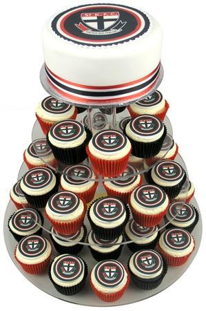 AFL Football Team Cake w Cupcakes