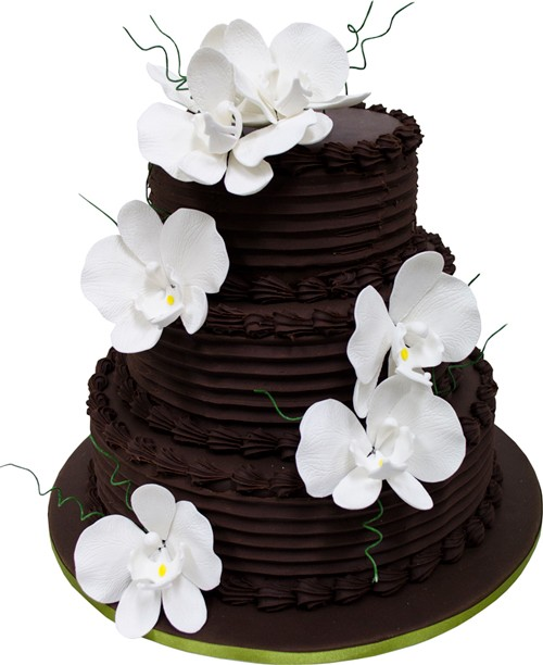 Phalaenopsis Chocolate Cascade Wedding Cake