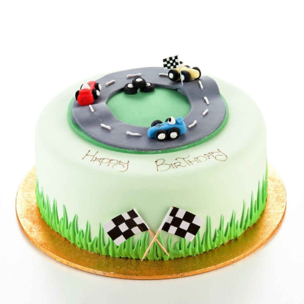 Fabulous Racing Track Birthday Cake Funny Birthday Cards Online Aboleapandamsfinfo