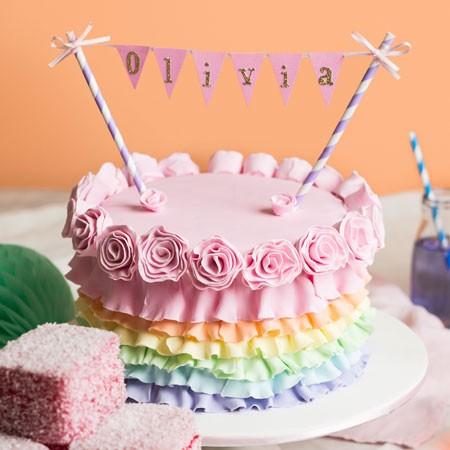 Ruffles Custom Cake