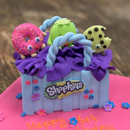 Shopkins Inspired Birthday Cake