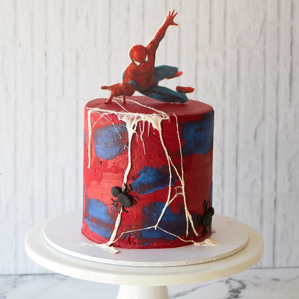 Outstanding Spiderman Birthday Cake Personalised Birthday Cards Paralily Jamesorg