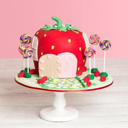 Sweet Strawberry Birthday Cake