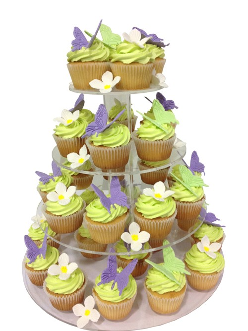 Sweet Butterfly Wedding Cupcake Tower