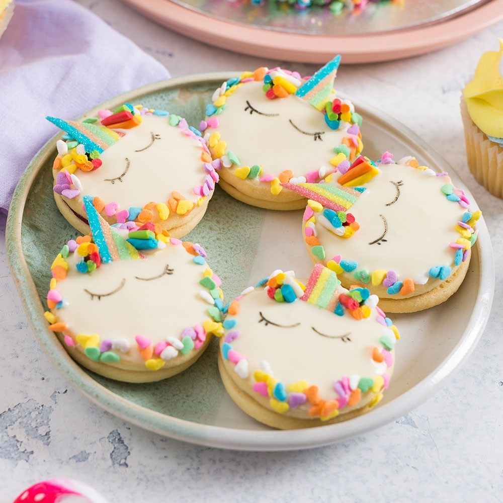 Unicorn Shortbread Cookies