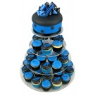 Blue Shoes Cupcake Cake