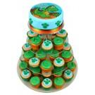 A Dinosaur Birthday Cupcake Cake