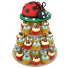 A Ladybird Birthday Cupcake Cake