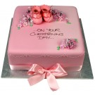 Pink Square Bootie Cake