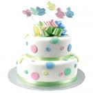 Rocking Horse & Dots Cake - Two Tiers