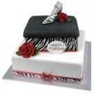 Zebra Shoe Box Cake