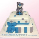 Bear Baptism Custom Cake