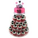Lovely 18th Cupcake Cake