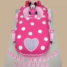 Minnie's Car - Minnie Mouse inspired Custom Cake