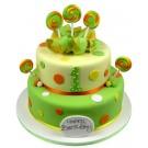Dots & Lollipops Cake