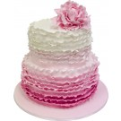 Rufflelicious Wedding Cake