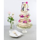 Thai Orchids Tower of Love Naked Wedding Cake