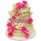 Vanilla Love Wedding Cake