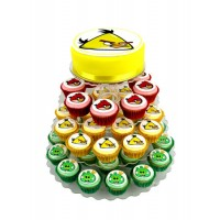 Angry Birds Yellow Bird Cupcake cake