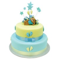Baby Steps Teddy Bear Cake - Two Tiers