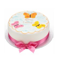 Iced Butterflies Cake - Round
