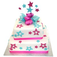 Funky Stars Cake - Two Tier