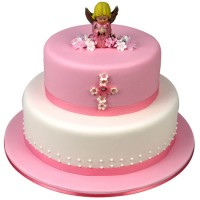 Angel Cake (Pink) - Two Tier