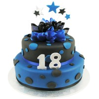 Stars and Dots Cake