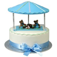 Teddy Bears Picnic Birthday Cake