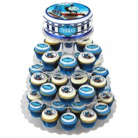 Thomas the Tank Engine Cupcake cake