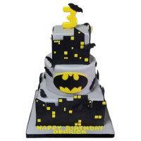 Batman Gotham City Birthday Cake