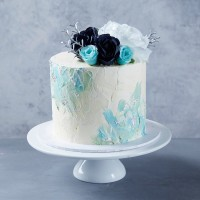 Blue & White Palette Cake