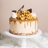 Caramel Cascade Drip Cake