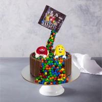 Falling M&Ms Birthday Cake