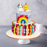 Rainbow Ribbon Birthday Cake