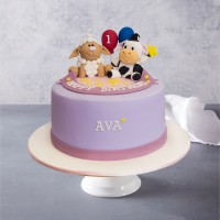Farmyard Animals Birthday Cake