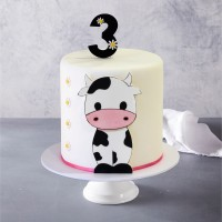 Cute Cow Birthday Cake