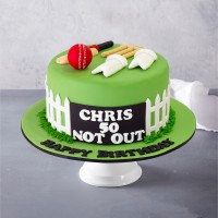 Cricket Custom Birthday Cake