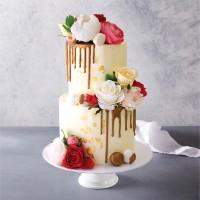 Bronze Drip Celebration Cake